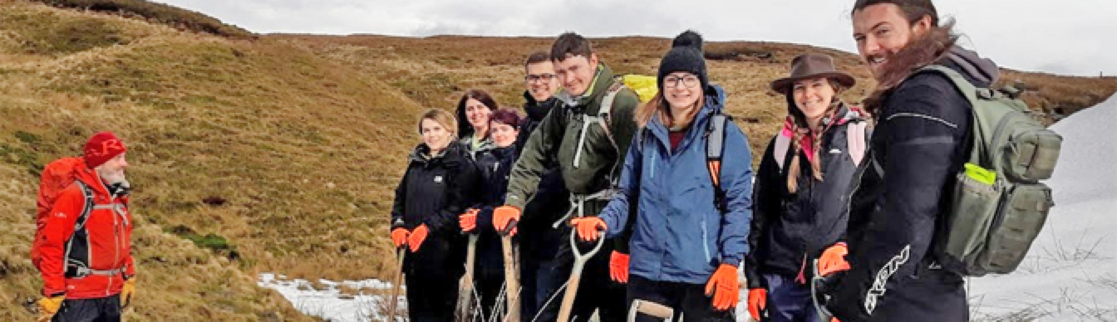 Contours Charity Work in the Peak District wilds