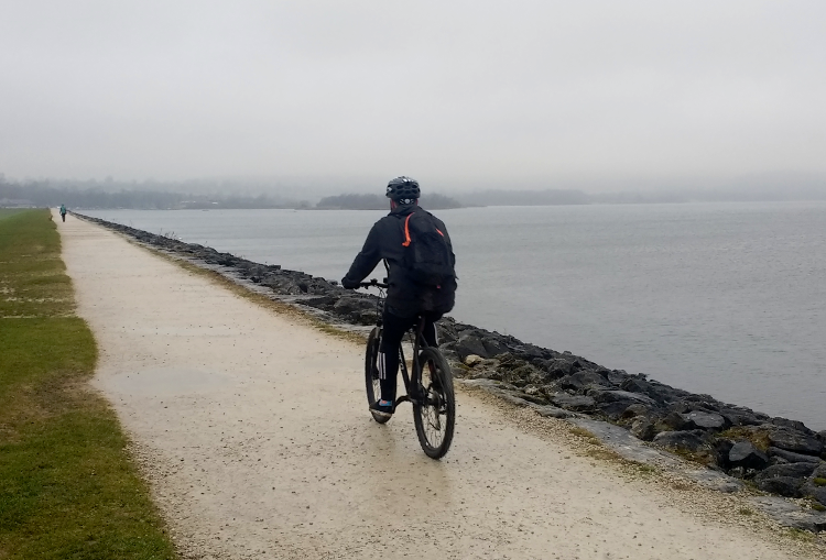 Cycling Carsington Water